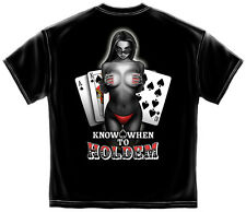 POKER KNOW WHEN TO HOLD EM NEW T SHIRT