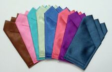 Bright Satin POCKET SQUARES - Square folded & sewn