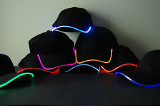 LED Lighted Glow Hat- Black Fabric