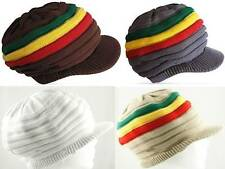 Reggae Rasta Irie Jamaica Marley Dread Lock Hat Cap 100% Cotton Tam Crown