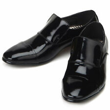 Gentle Mens Black Leather Dress Loafers Shoes