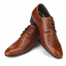 New Italian Style Dress Casual Lace Up Mens Shoes Brown