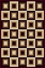 4x6 CARVED SQUARES MODERN GEOMETRIC AREA RUG 6 COLORS