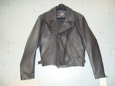 Leather Jacket NEW River Road Motorcycle Street Jacket 2XL Solid Black Leather