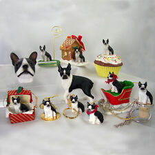 BOSTON TERRIER COLLECTABLE MINIATURE KEEPSAKE DOG GIFTS