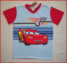DISNEY CARS Lightning McQueen T-SHIRT Top Sz 4 6 8  NEW