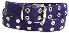 Canvas 2 Hole With Silver Grommet Belt In Navy XS - XL