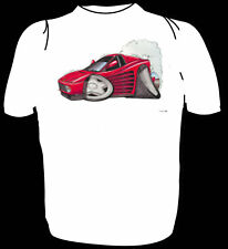 KOOLART TSHIRT - FERRARI TESTAROSSA  - RED - 6 SIZES