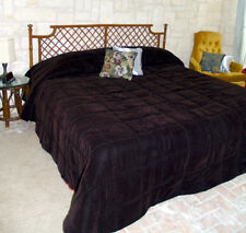 Conventional Size Solid VELVET Bedspread - all sizes