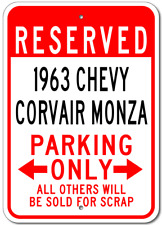 1963 63 CHEVY CORVAIR MONZA Parking Sign