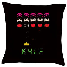 Space Invaders | Cushion | Personalised | Birthday |