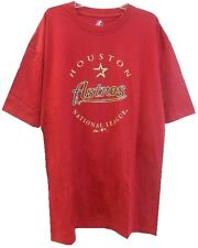 Houston Astros MLB Majestic Mens National League Red Tee Shirt Big & Tall Sizes