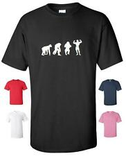 EVOLUTION OF BODYBUILDING GYM FUNNY T-SHIRT MENS WOMENS