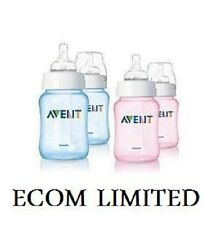Philips Avent Slow Flow 2 x Bottle 260ml 9oz Pink Blue / Free intrernational