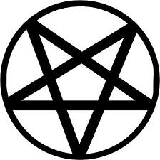 "Pentagram Decal 3.75"" choose color!"