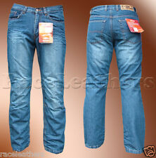 THE LATEST IN FASHION RS KEVLAR LINED MOTORCYCLE DENIM JEANS WITH KNEE ARMOUR