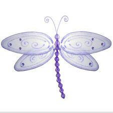 Dragonfly Baby Shower Nylon Hanging Purple Lavender Fake Dragonflies Girls Room