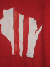 Wisconsin Badgers Helmet Design T-shirt (Red) All Sizes
