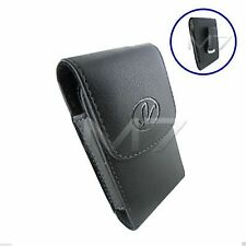 BLACK PREMIUM LEATHER POUCH CASE FOR SAMSUNG PHONES COVER WITH BELT CLIP