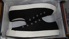 NEW WOMENS SHOES CHAPS BREE NO LACE SLIP ON TWILL MICRO SUEDE CANVAS BLACK SKATE