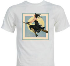 Halloween 1920's Sexy Witch Vintage T-shirt