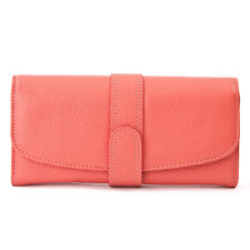 11 Colors Women's Genuine Leather Wallet Purse Clutch Bag,100% Cow Leather
