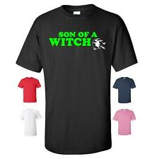 SON OF A WITCH FUNNY HALLOWEEN T-SHIRT CHRISTMAS PRESENT MENS