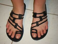 Buffalo Leather Sandals Ladies 5,6,7,8,9,10 NEW Black Multi Style Thong