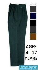 Zeco Boys School Uniform Generous/Sturdy Fit Trousers with Elastic Back 4-14 yrs