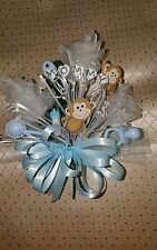 Baby shower MOMMY monkey corsage boy girl white, pink or blue  style #1