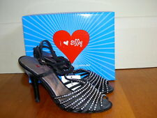 NEW $99 I LOVE BILLY Womens Peep Toe High Heels Black size 7 38 Evening Formal
