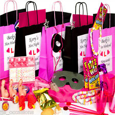 HEN PARTY BAGS! Personalise Add 8 Fillers Create Your Own BRIDE TO BE Bulk Buy