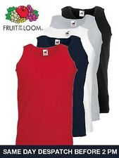 FRUIT OF THE LOOM ATHETIC VEST  T SHIRT  VARIOUS COLOURS