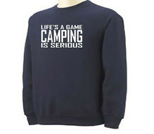 Camp Life's A Game Camping Campers Adult Sweatshirt