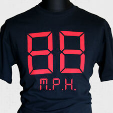 Back to The Future 88 MPH T Shirt Marty McFly Retro Cool Doc Brown Hill Valley