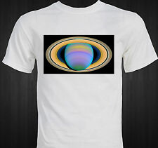 Saturn's Rings in Ultra-violet Light - Astronomy - science space image T-shirt
