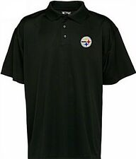 Pittsburgh Steelers NFL Team Apparel Black Polo Golf Shirt All Sizes