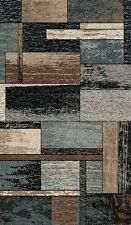 8' X 11' CONTEMPORARY HIGH QUALITY HAND CARVED AREA RUG IN 3 COLORS IN SQUARES