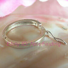 Silver Plated Ring Jewelry Clasp finding