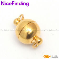 8mm Yellow Gold Plated Magnet Ball Clasp Jewelry Making Design Findings 1 Pcs