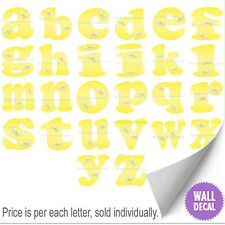 Name Wall Letters Alphabet Stickers Initial Decals Girls Decor Yellow Butterfly