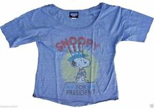 New Authentic Junk Food Snoopy for President Ladies Off The Shoulder T-Shirt