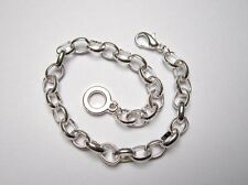 LINKED CHAIN CHARM BRACELET WITH LOBSTER CLASP (16cm - 20cm)