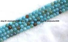 """8,10,12mm blue crack agate round faceted beads 15"""""""