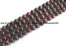 6,8,10,12,14,18mm natural red Tiger Eye round Beads 15''