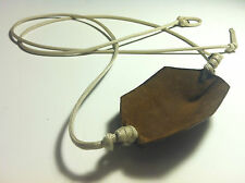 Paracord & Leather Cupped Pouch Shepherd Sling HANDMADE by David the Shepherd