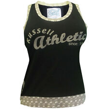 Ladies Vest Russell Athletic Sleeveless Tee Singlet Cami New Sizes XS S M L XL