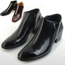 New Mens Dress Leather Shoes Formal Casual Ankle Boots Deluxe Multi Colored
