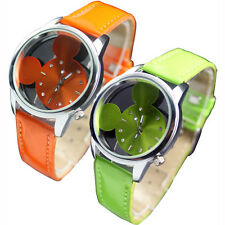 Fashion Mouse Head Style Cute New Girls Ladies Womens Quartz Wrist Watch Watches