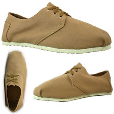 Men's Fashion Casual Espadrilles Tan Canvas UK 6 - 11 Euro 40 - 45 New